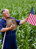 Farmer with a Flag