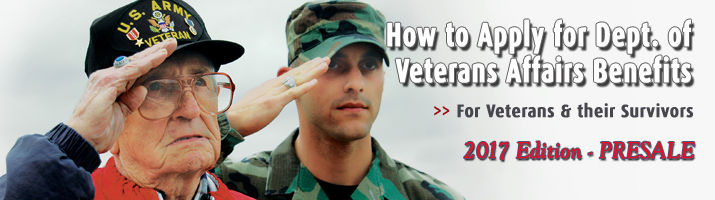Book: How to Apply for Department of Veterans Affairs Benefits for Recent and Senior Veterans and Their Survivors